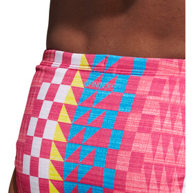adidas Allover Print Bikini Damer, real pink/bright blue
